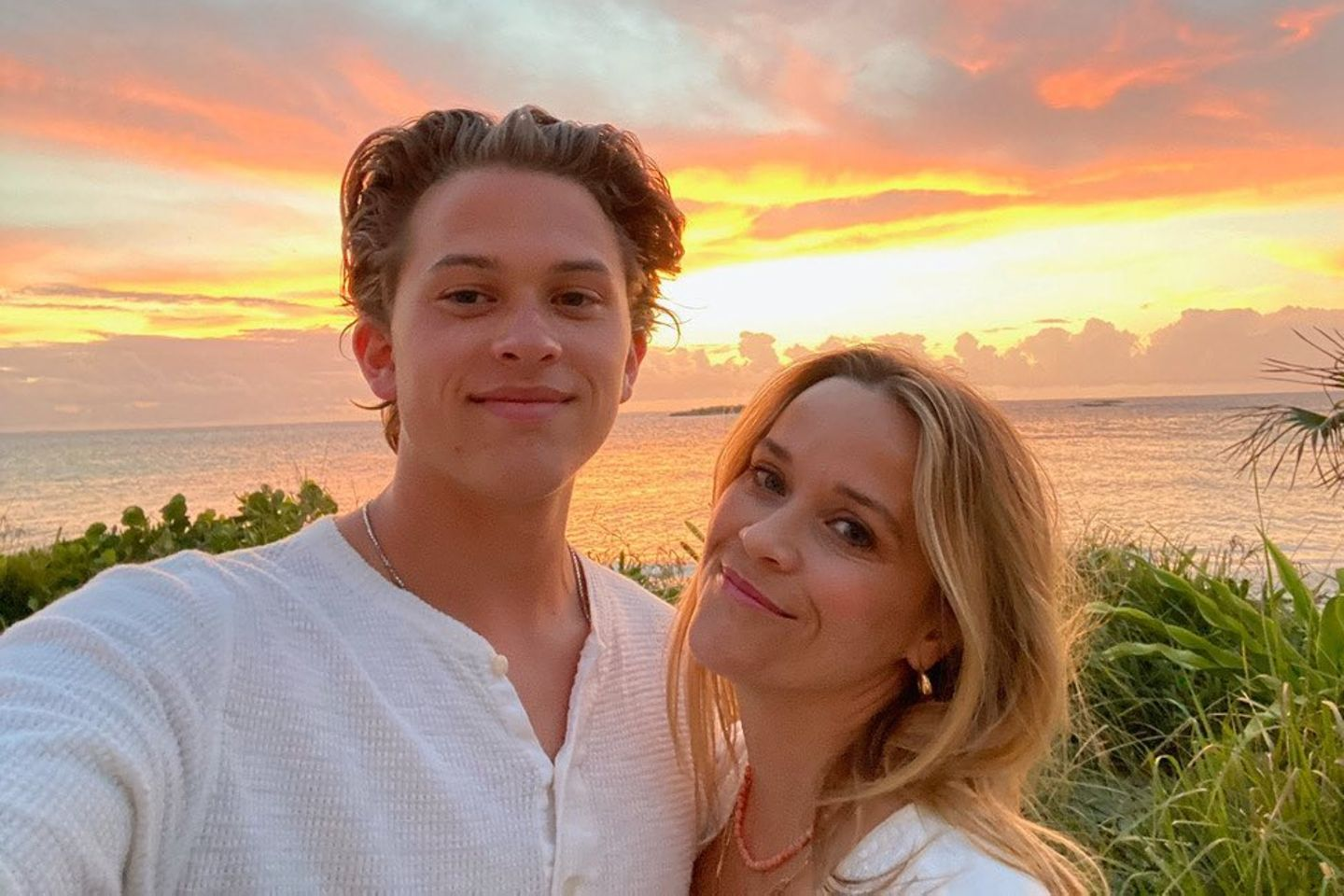Deacon Phillippe mit seiner Mutter Reese Witherspoon