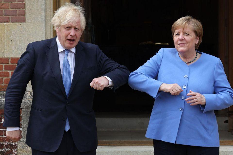 Boris Johnson, Angela Merkel