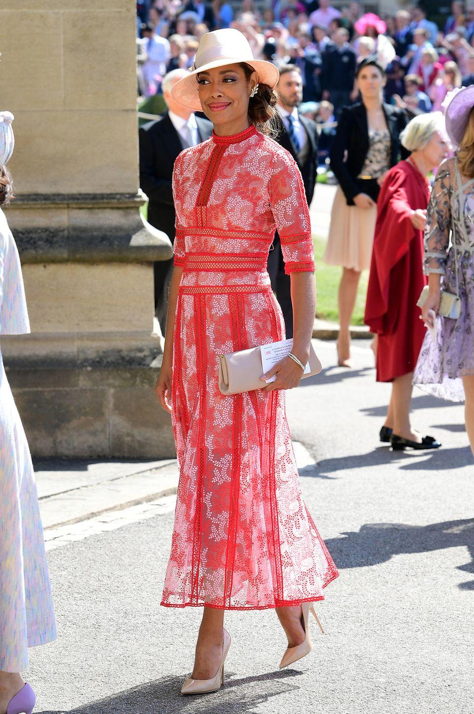 Gina Torres auf der Hochzeit von Prinz Harry und Meghan Markle, 2018.