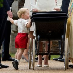 Wie es seiner kleinen Schwester geht, muss George natürlich ganz genau wissen.