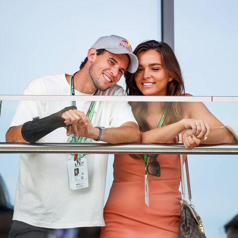 Dominic Thiem und Lili Paul-Roncalli beim Großen Preis von Österreich.