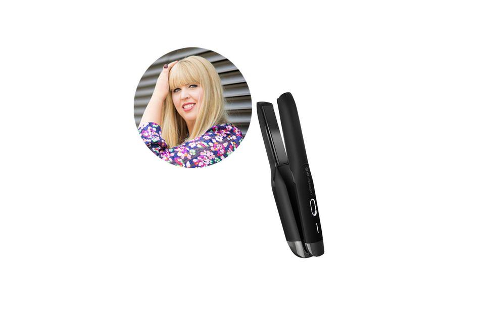 Head of Beauty & Fashion Nane hat ihrenoptimale Begleiter für schnelle To-Go-Stylings mit dem neuen ghd Styler gefunden.