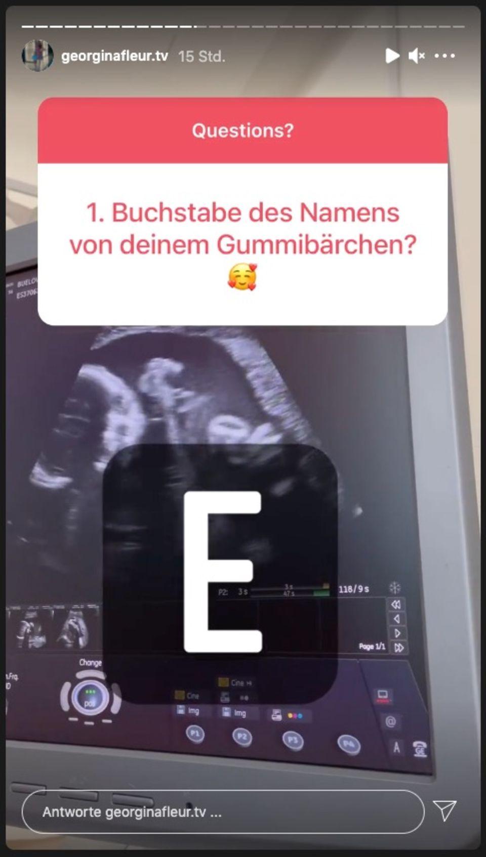 Georgina Fleur verrät bei Instagram ein kleines Detail zum Babynamen.