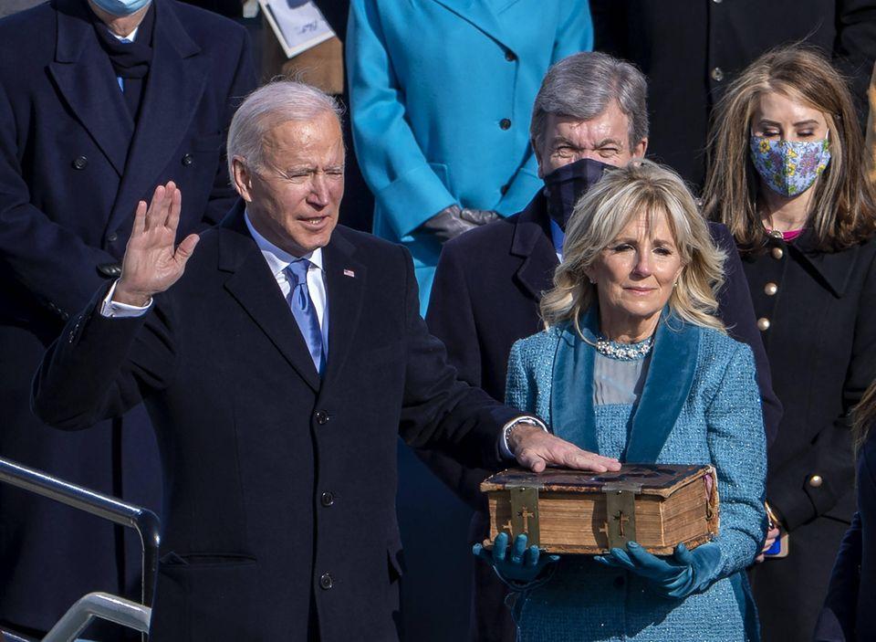 Joe und Jill Biden bei der Amtseinführung am 20. Januar 2021.