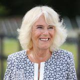 Natürlich gibt es für Camilla auch eine prickelnde Kostprobe desberühmten walisischen Weins. Nachdem die Herzogin zur Erinnerung eine Gedenktafel enthüllt hat, stößt sie zusammen mit dem Besitzer Ryan auf das Jubiläum an.
