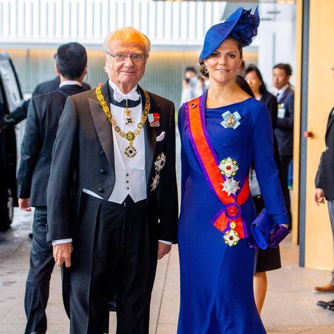 König Carl Gustaf undPrinzessin Victoria