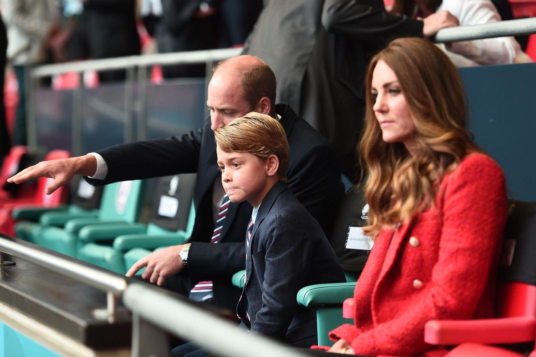 Prinz William, Prinz George und Herzogin Catherine