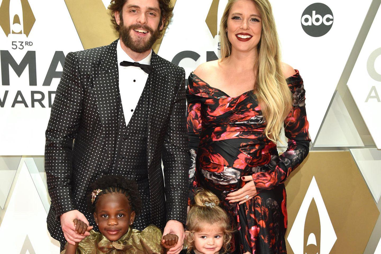 Thomas Rhett,Lauren Akins und ihre Töchter