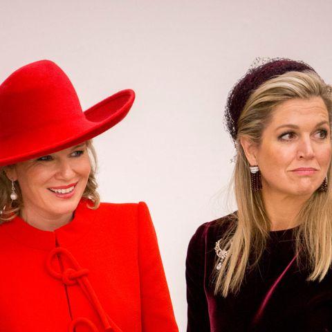 Königin Mathilde und Königin Máxima