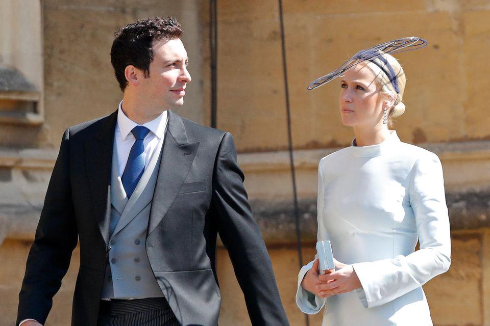 Michael Hess und Misha Nonoo bei der royalen Hochzeit von Prinz Harry und Herzogin Meghan
