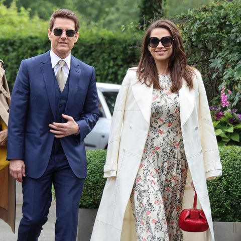 Tom Cruise undHayley Atwell in Wimbledon.