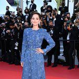 Ein ungewöhnlicher aber sehr moderner Look auf dem Red Carpet: Marion Cotillard in Chanel.