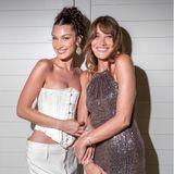 Ob sich diese beiden Damen ähnlich sehen oder nur denselben Beauty-Doc haben, wird ja gerne gemunkelt. Fest steht aber: Sie verstehen sich blendend wie hier beim Dior-Dinner.