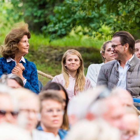 Königin Silvia, Prinz Daniel und Prinzessin Estelle