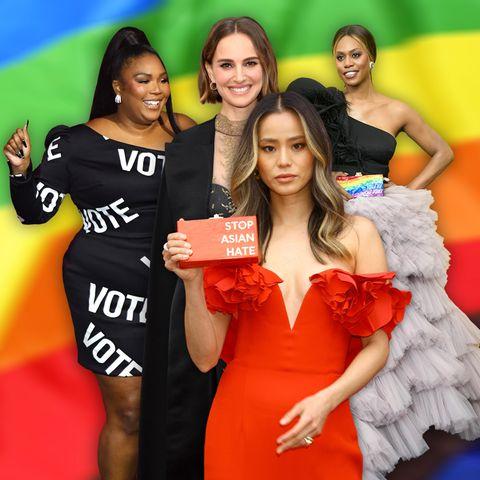 Lizzo, Natalie Portman und Co.: Die Stars zeigen Red-Carpet-Looks mit Message