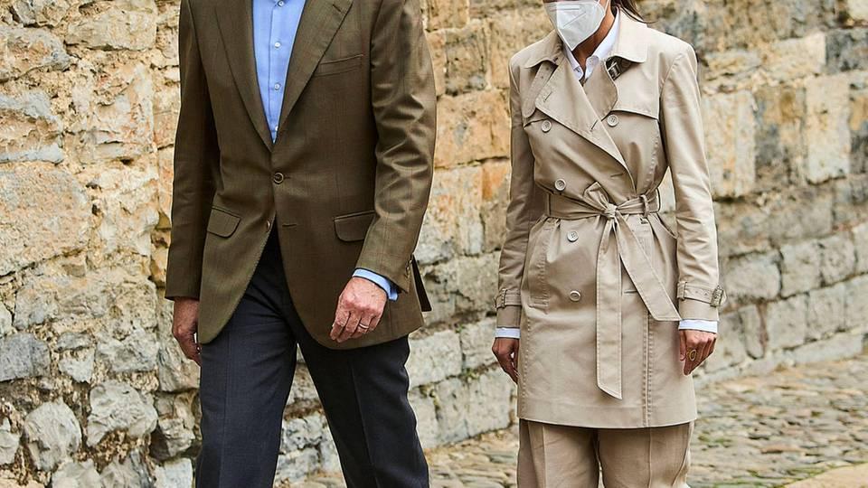 Königin Letizia erscheint mit König Felipe zurEröffnungszeremonie zum Jakobsjahr 2021-2022