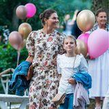 """Am Vorabend ihres 44. Geburtstages besucht Prinzessin Victoria mit ihrer Familie ein Konzertder schwedischen Sängerin Carola im Rahmen der Konzertreihe """"Solliden Sessions""""."""