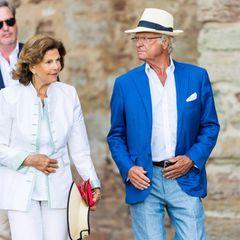 Königin Silvia und König Carl Gustaf haben sich für die Feier zu Ehren ihrer Tochter ebenfalls fein herausgeputzt.