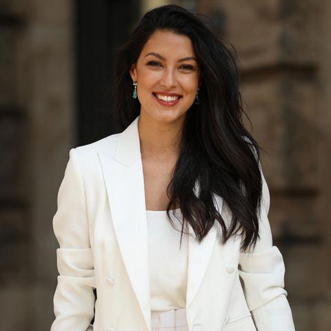 Rebecca Mir: Ihr Romantik-Look ist zum Verlieben schön