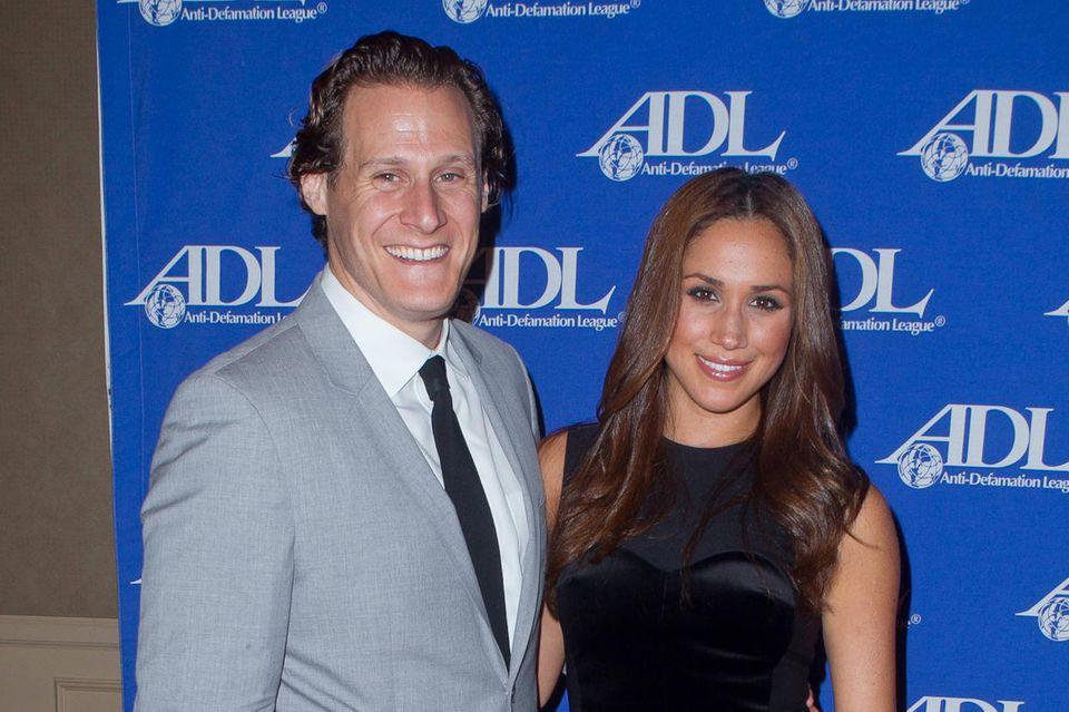 Trevor Engelson und Herzogin Meghan, damals noch Meghan Markle, im Oktober 2011 bei einem Event in Beverly Hills, Kalifornien