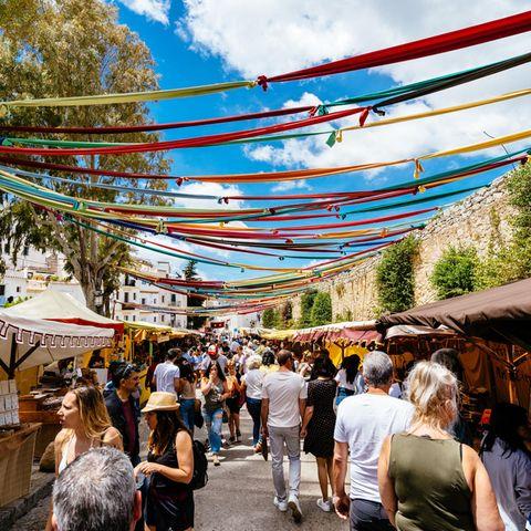 Ein typischer Markt in Ibiza Stadt