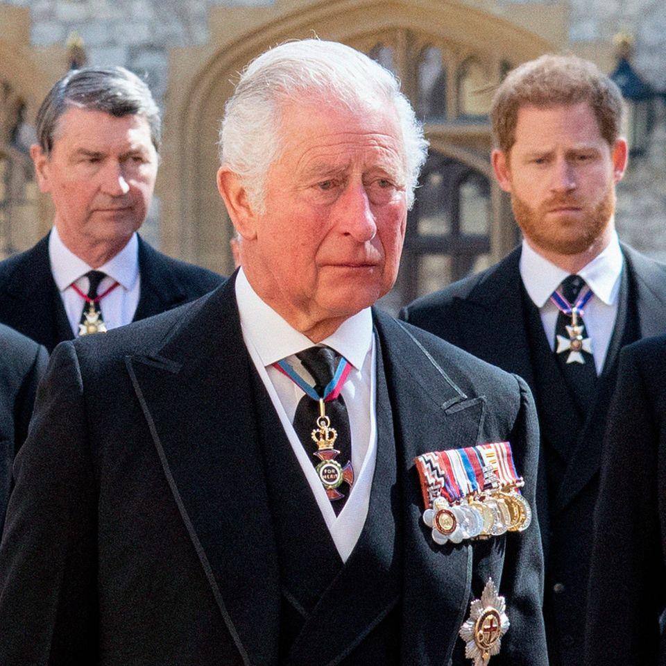 Prinz Charles, und Prinz Harry