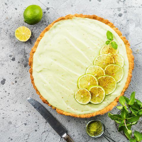 Sommerkuchen: Limetten-Eistorte ohne Backen