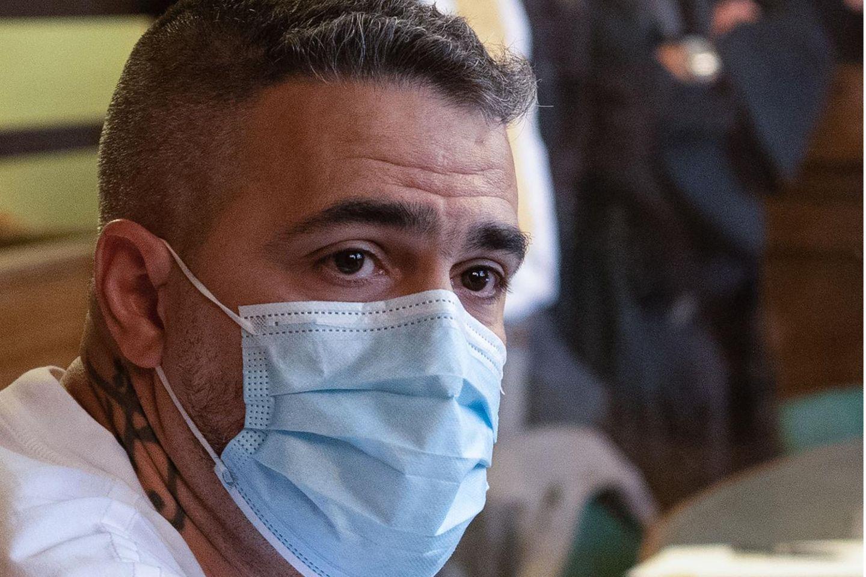 Anis Mohamed Youssef Ferchichi alias Bushido saß in den vergangenen Monaten öfter in einem Gerichtssaal, hier im August 2020 als Nebenkläger und Zeugeim Prozess gegenArafat Abou-Chaker.