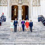 Der belgische Nationalfeiertag beginnt für die Königsfamilie wie gewohnt mit demTe Deum-Gottesdienst in der Brüsseler Kathedrale St. Michael und St. Gudula.Auch in diesem Jahr gibt es wegen der Corona-Krise zusätzliche Sicherheitsmaßnahmen zu beachten und daskleine Publikum wird auf große Distanz gehalten.