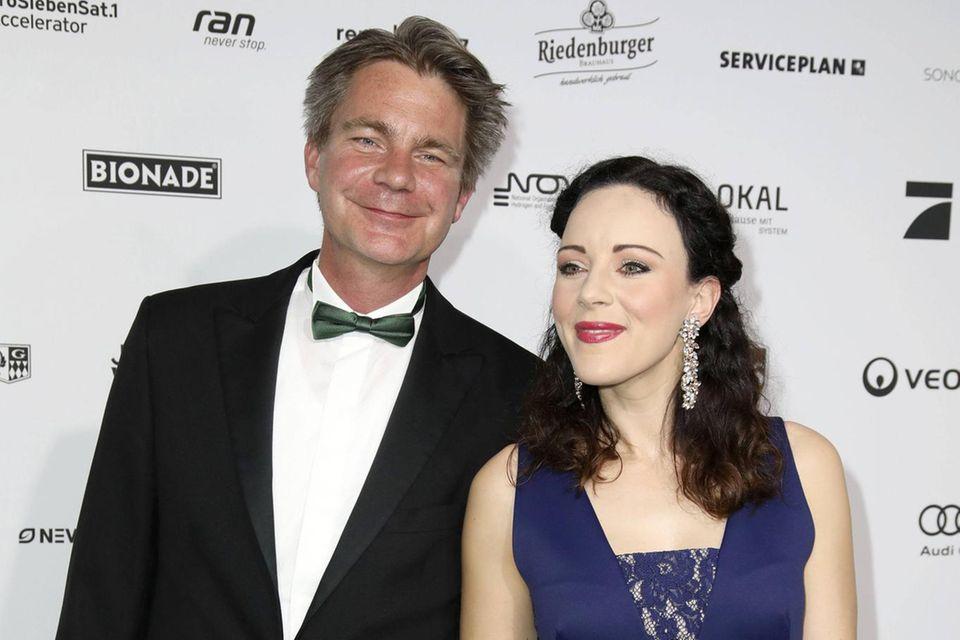 Jasmin Wagner mit ihrem Mann Frank Sippel bei einer Veranstaltung im Jahr 2017