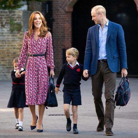 Prinz William und Herzogin Catherine mit ihren Kindern Prinz George und Prinzessin Charlotte
