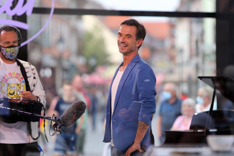 Florian Silbereisen am Set von DSDS