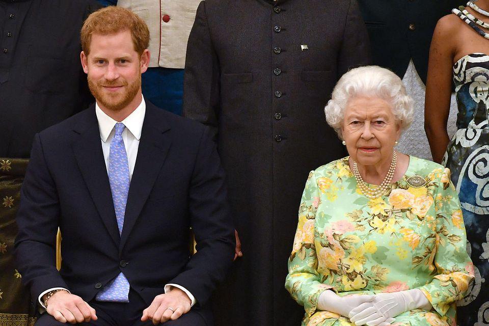 Prinz Harry und Queen Elizabeth