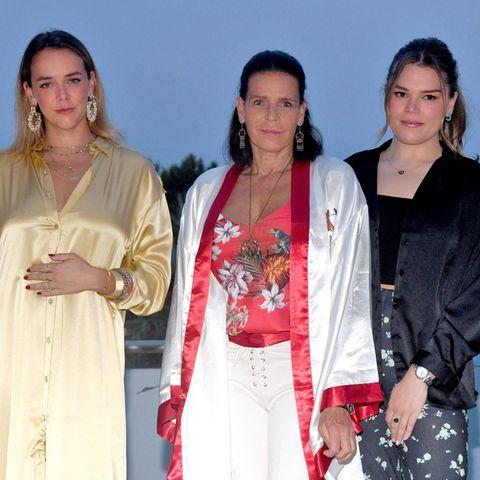 Prinzessin Stephanie mit ihren Kindern bei der Fight Aids Monaco Summer Gala