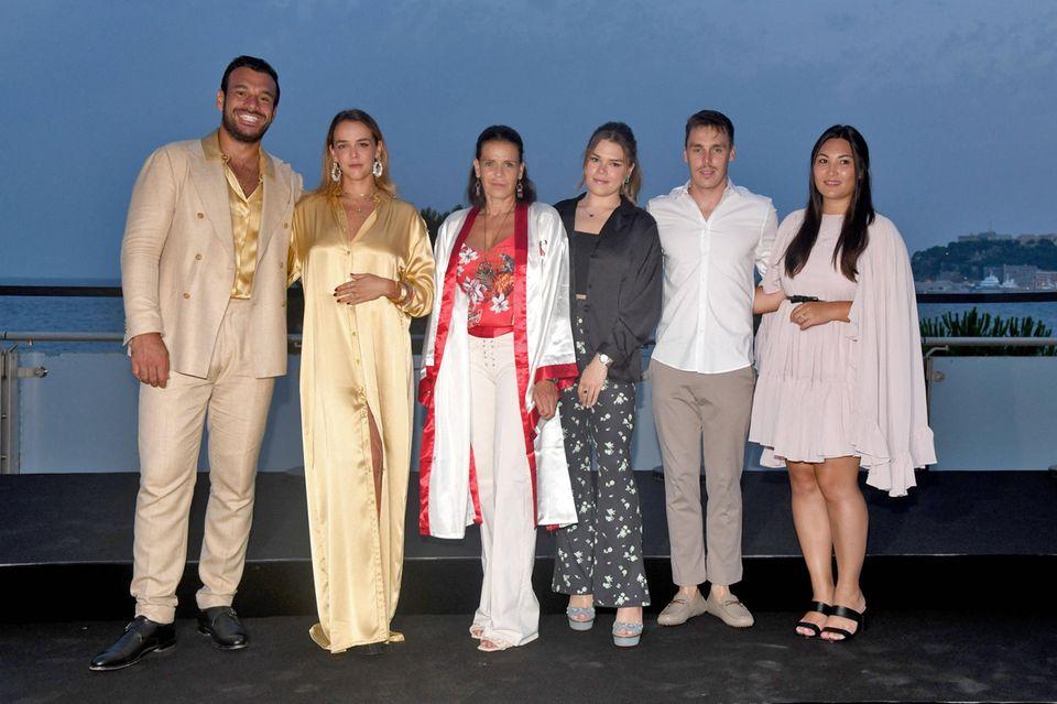 Prinzessin Stéphaniemit ihren Kindern bei der Fight Aids Monaco Summer Gala