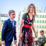Feierlich und doch sommerlich ist dieser florale Folklore-Look, in dem Prinzessin Elisabeth von Belgien beim Nationalfeiertag 2018 in Brüssel bezauberte.