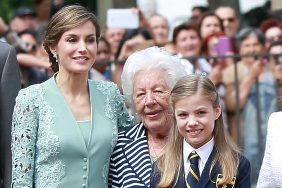 Königin Letizia, Menchu Álvarez und Infantin Sofía im Mai 2017