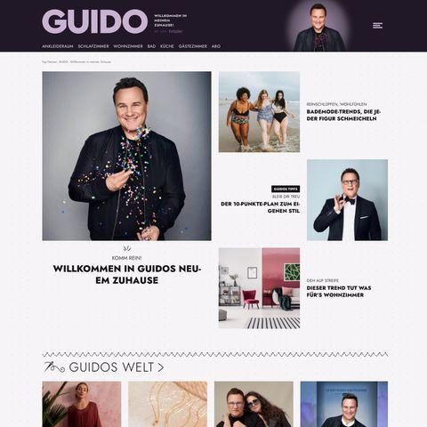 Startseite der Website guidomariakretschmer.de