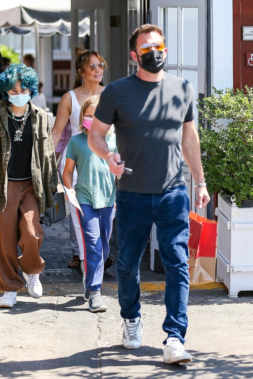 Jennifer Lopez und Ben Affleck im Juli 2021 beim Lunch in L.A.