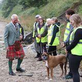 Windsor RTK: Prinz Charles trägt Kilt bei Termin am Strand
