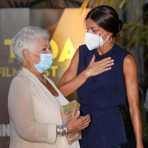 Königin Letizia trifft Dame Judi Dench auf Mallorca.