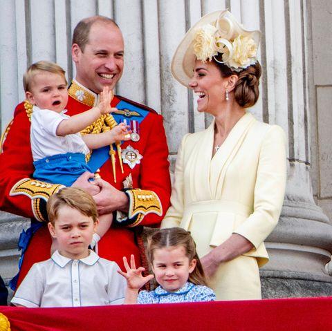 """Mit Prinz Louis, Prinz George und Prinzessin Charlotte bei """"Trooping the Colour"""""""