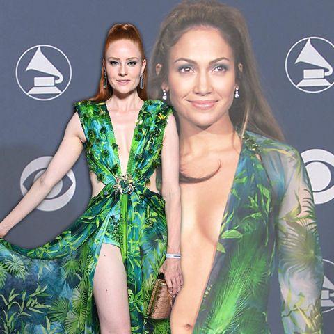 Wem steht das legendäre Versace-Kleid besser: Barbara Meier oder Jennifer Lopez?