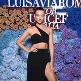 Elegant und sexy in einem Look von Mônot präsentiert sich das deutsche Victoria's-Secret-ModelLorena Rae auf derMega-Party.