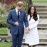Prinz Harry und Meghan Markle strahlen bei dem offiziellen Auftritt nach ihrer Verlobung.