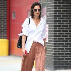 Katie Holmes läuft durch die Straßen New Yorks.