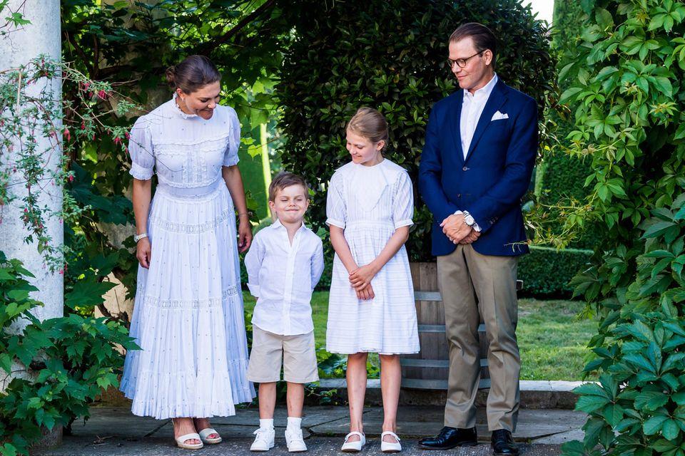 Prinzessin Victoria, Prinz Oscar, Prinzessin Estelle und Prinz Daniel