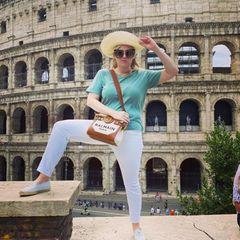Urlaubsgrüße der Stars: Rebel Wilson in Rom