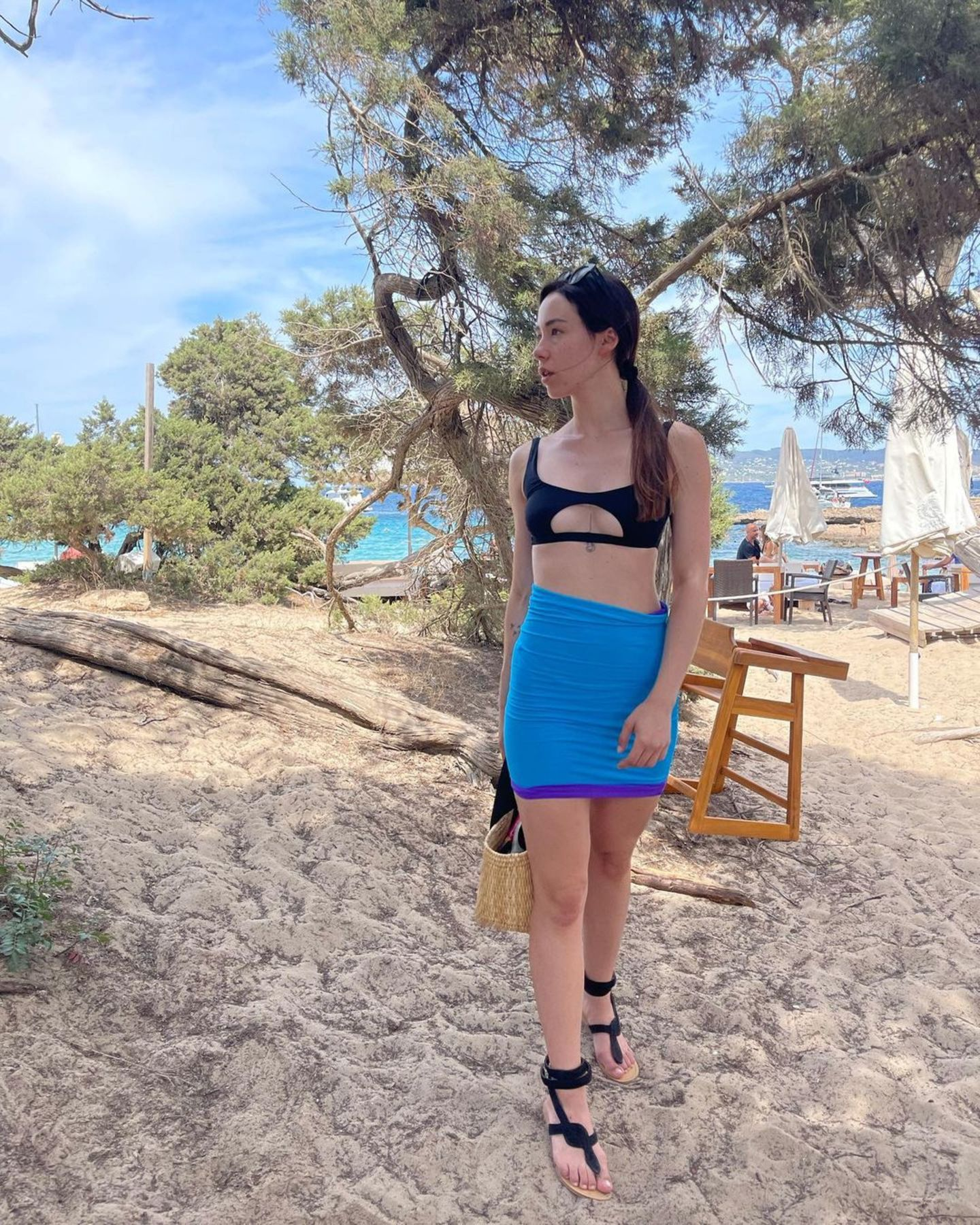 Aurora Ramazzotti am Strand