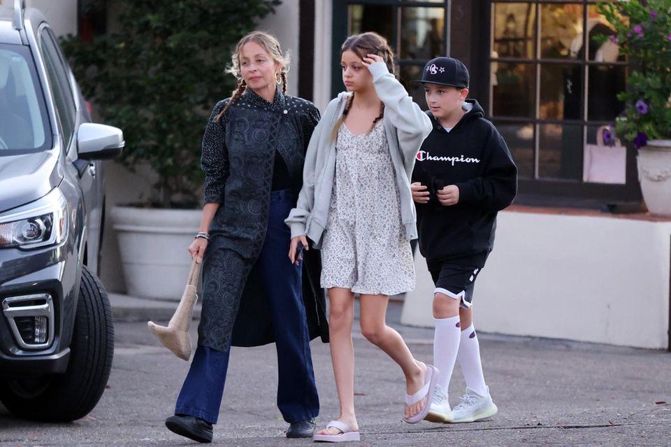 Nicole Richie mit den Kindern Harlow und Sparrow